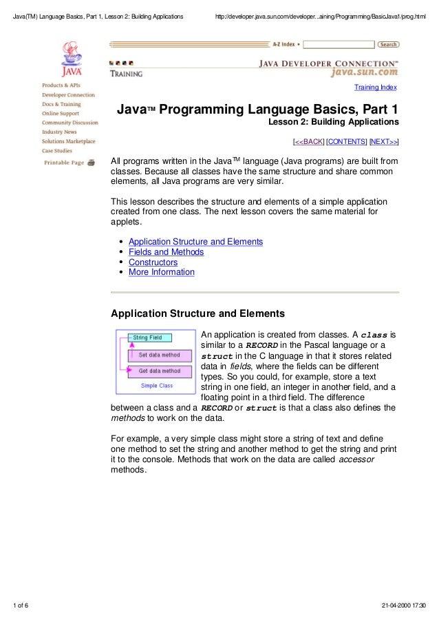Pdf For Java Programming