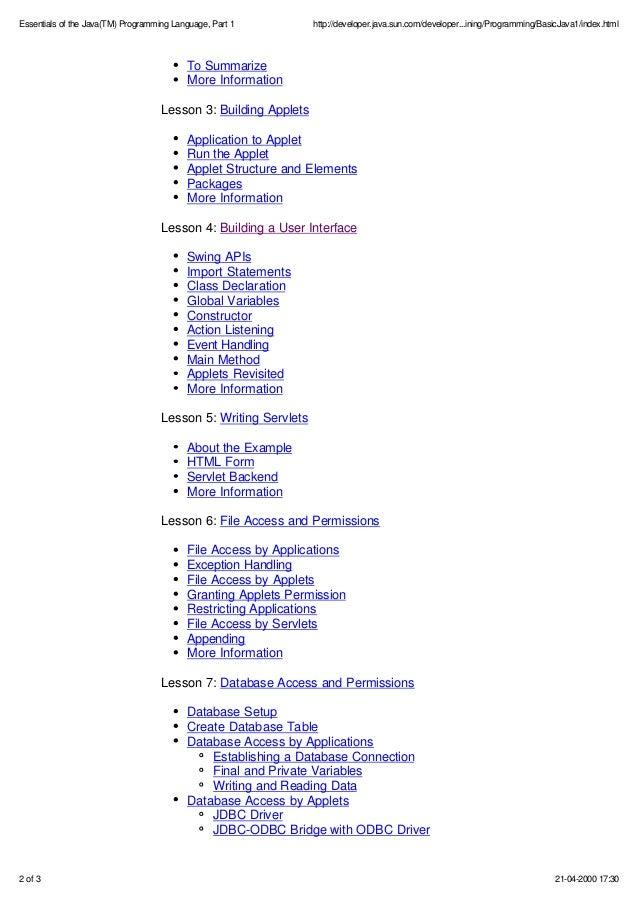 Tutorial java pdf language