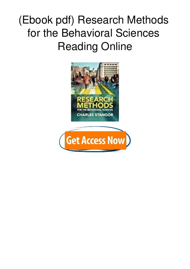 (Ebook pdf) Research Methods for the Behavioral Sciences Reading Online