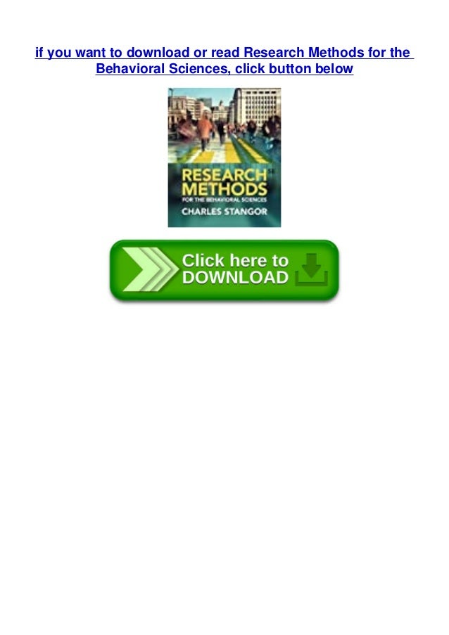 if you want to download or read Research Methods for the Behavioral Sciences, click button below
