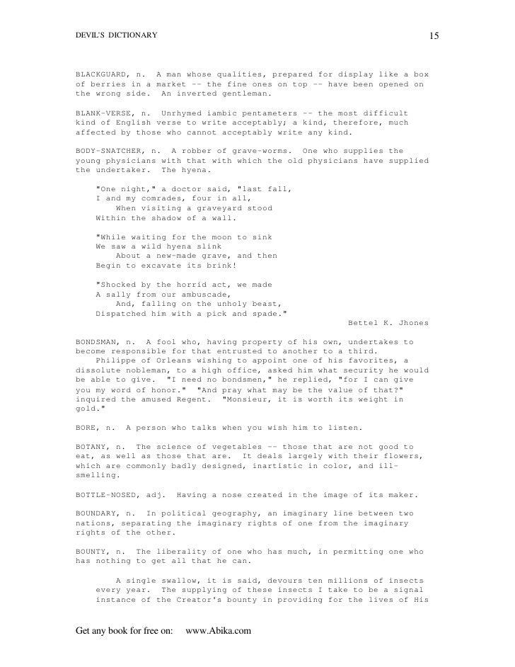 Ebook pdf the devils dictionary abika 15 fandeluxe Document