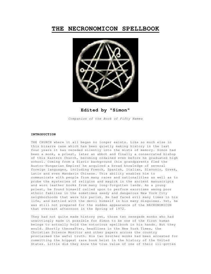 (Ebook Pdf)   The Necronomicon Spell Book