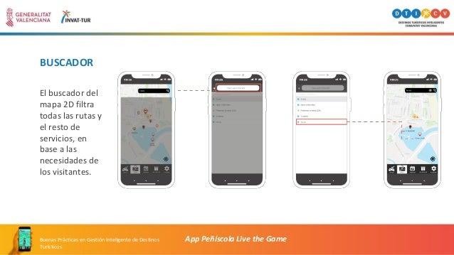 BUSCADOR El buscador del mapa 2D filtra todas las rutas y el resto de servicios, en base a las necesidades de los visitant...