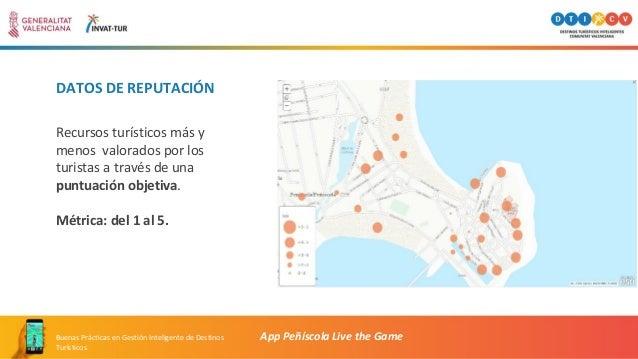 DATOS DE REPUTACIÓN App Peñíscola Live the GameBuenas Prácticas en Gestión Inteligente de Destinos Turísticos Recursos tur...