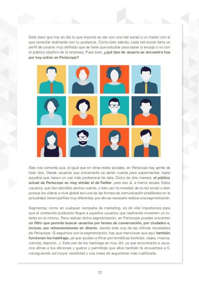 12 Está claro que hoy en día lo que importa es dar con una red social o un medio con el que conectar realmente con tu audi...