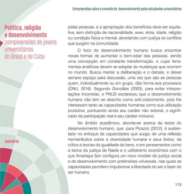 Política, religião e desenvolvimento: compreensões de jovens universitários do Brasil e de Cuba