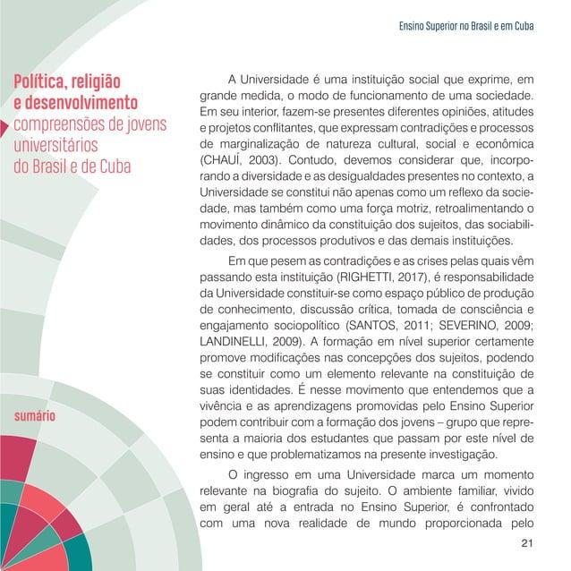 Ensino Superior no Brasil e em Cuba 23 Educação Superior no Brasil: a Universidade Estadual do Paraná A Educação Superior ...