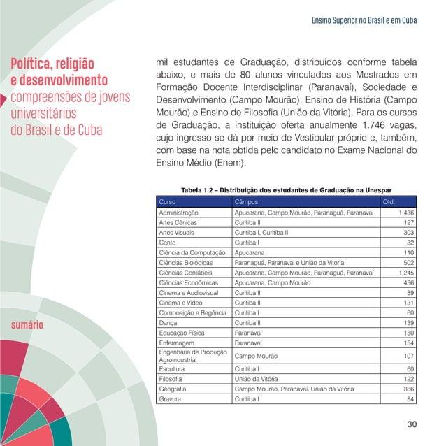 Ensino Superior no Brasil e em Cuba 32 provedor da instituição. Tais ações, além de enriquecerem e diversificarem a formaç...