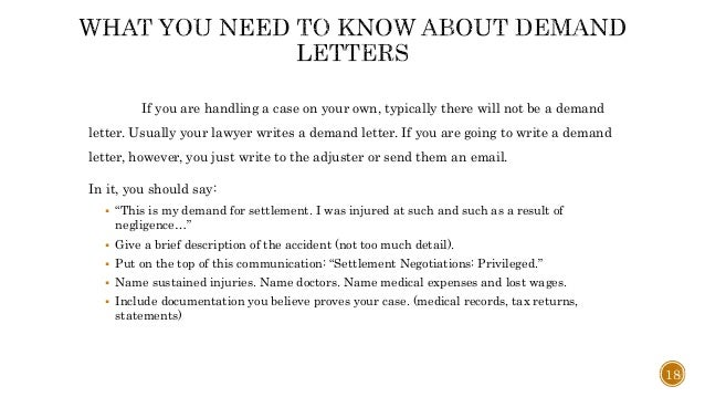 Auto Insurance Demand Letter Example Personal Injury Demand Letter