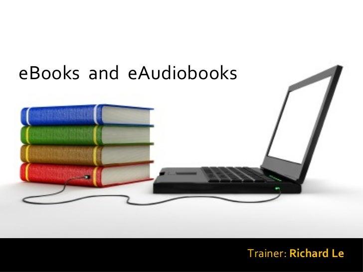 Ebooks & eAudiobook Training