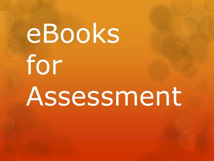 eBooksforAssessment