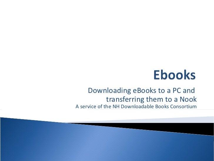 EPUB eBooks on a Nook - February 2012