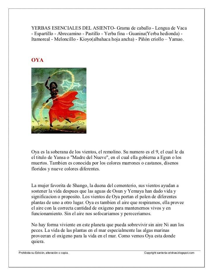 Oya/YansaMama - Oya Ferekun,La Virgen de la Candelaria, la duena de la          Centella.Inseparable y fiel concubina de C...