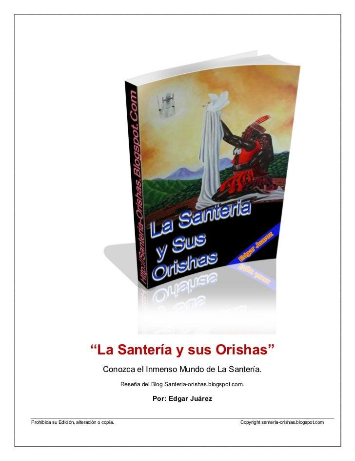 """Libro Electronico """"La Santeria y sus Orishas"""" (actualizado) Slide 2"""