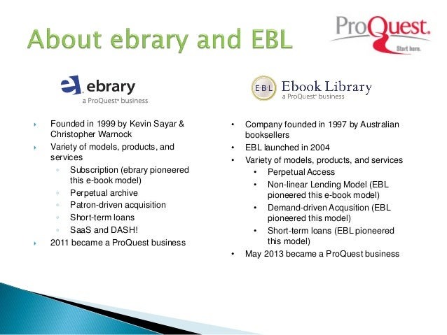 Ebooks challenges and opportunities in academic library a case study proquest business 26 fandeluxe Choice Image