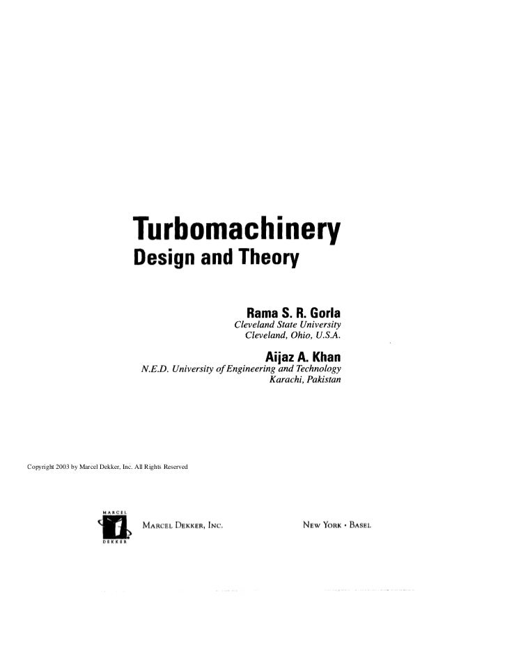ebooksclub org turbomachinery design and theory dekker mechanical rh slideshare net Turbomachinery Rocket Integrated Turbomachinery Montebello CA