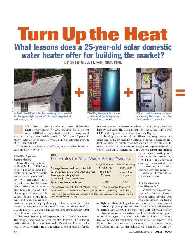 Ebooks) diy energy - solar water heaters