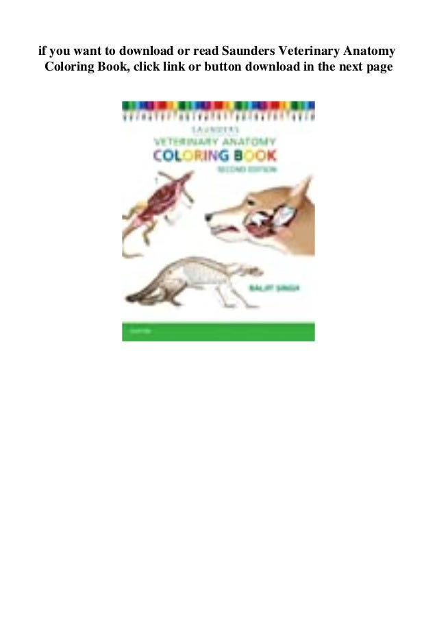 Ebooks Download Saunders Veterinary Anatomy Coloring Book [FREE] [DOW…