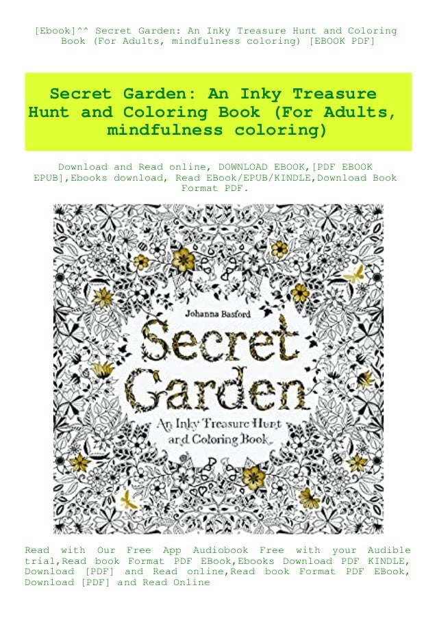 Ebook]^^ Secret Garden An Inky Treasure Hunt And Coloring Book (For …