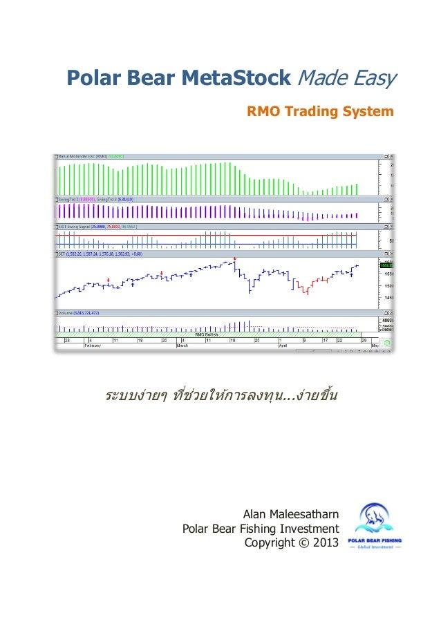 ระบบง่ายๆ ที่ช่วยให ้การลงทุน...ง่ายขึ้น Alan Maleesatharn Polar Bear Fishing Investment Copyright © 2013 Polar Bear MetaS...