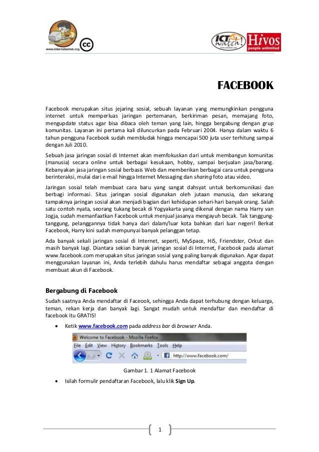 FACEBOOKFacebook merupakan situs jejaring sosial, sebuah layanan yang memungkinkan penggunainternet untuk memperluas jarin...
