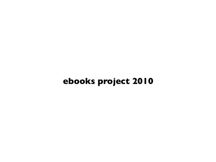 ebooks project 2010