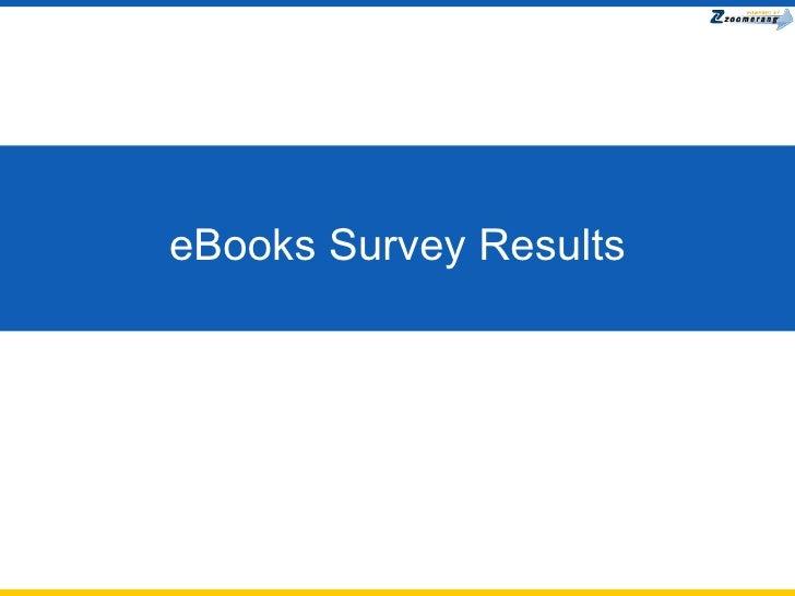 eBooks Survey Results