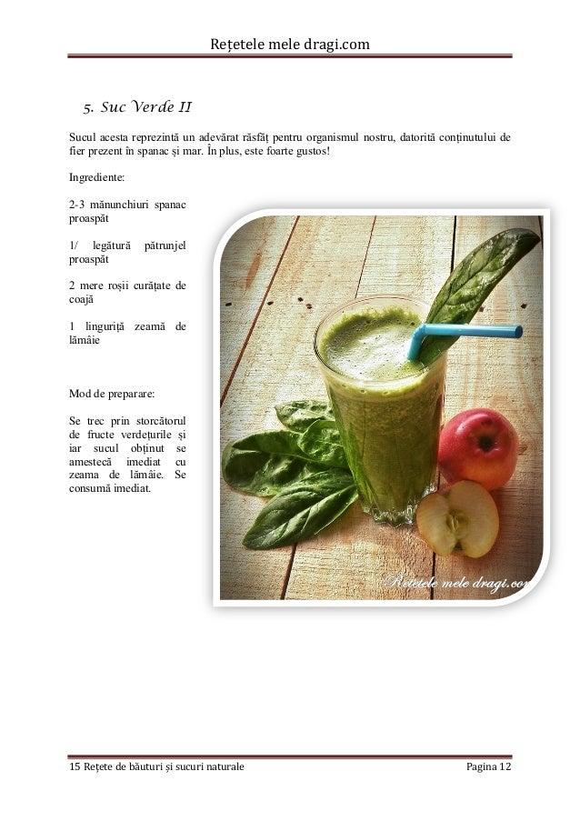 Rețetele mele dragi.com  15 Rețete de băuturi și sucuri naturale Pagina 12  5. Suc Verde II  Sucul acesta reprezintă un ad...