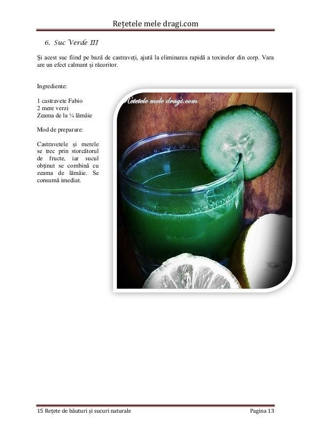 Rețetele mele dragi.com  15 Rețete de băuturi și sucuri naturale Pagina 13  6. Suc Verde III  Și acest suc fiind pe bază d...