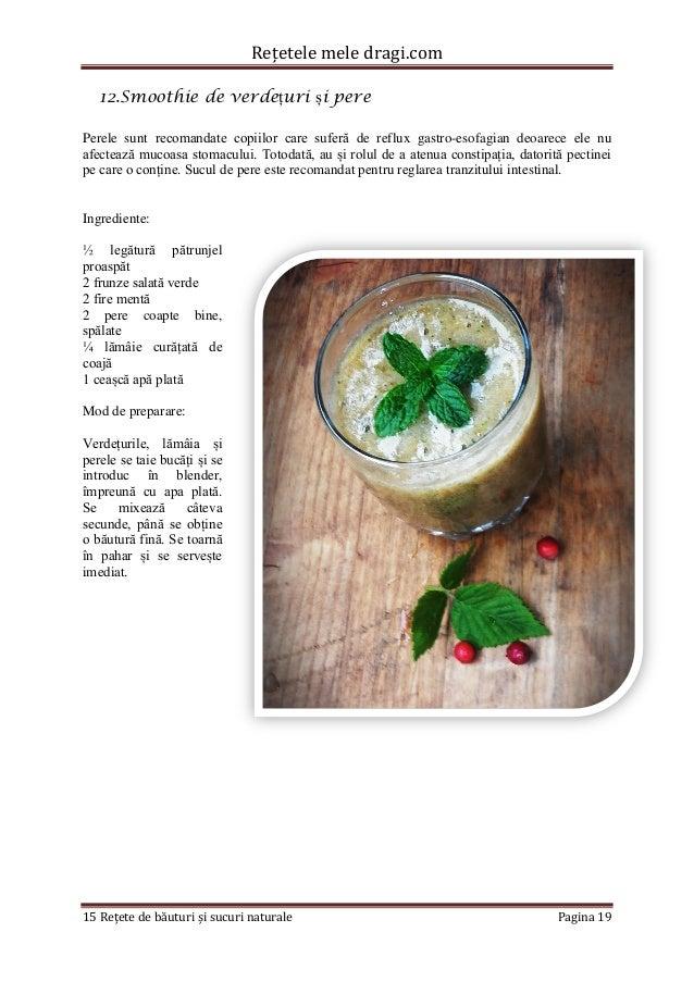 Rețetele mele dragi.com  15 Rețete de băuturi și sucuri naturale Pagina 19  12.Smoothie de verdețuri și pere  Perele sunt ...