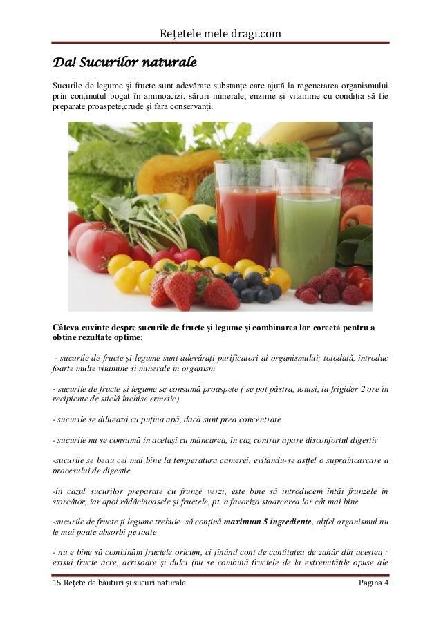 Rețetele mele dragi.com  15 Rețete de băuturi și sucuri naturale Pagina 4  Da! Sucurilor naturale  Sucurile de legume și f...