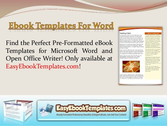 Ebook Template Word | Ebook Templates For Word