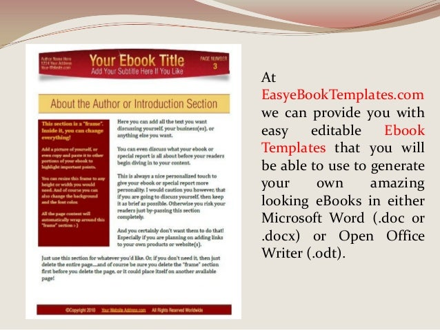Ebook templates for word - Can open office open docx ...