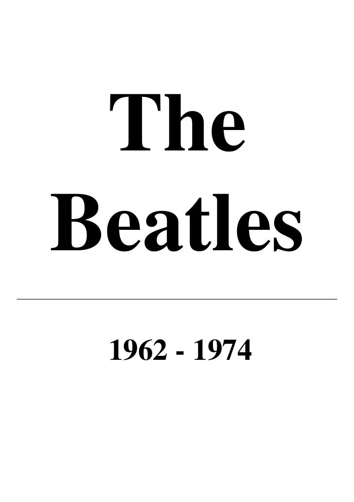 TheBeatles 1962 - 1974
