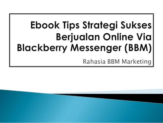 Ebook Tips Rahasia Strategi Sukses Berjualan Online Via