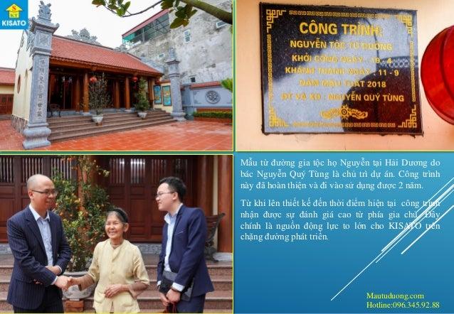 Mautuduong.com Hotline:096.345.92.88 Mẫu từ đường gia tộc họ Nguyễn tại Hải Dương do bác Nguyễn Quý Tùng là chủ trì dự án....