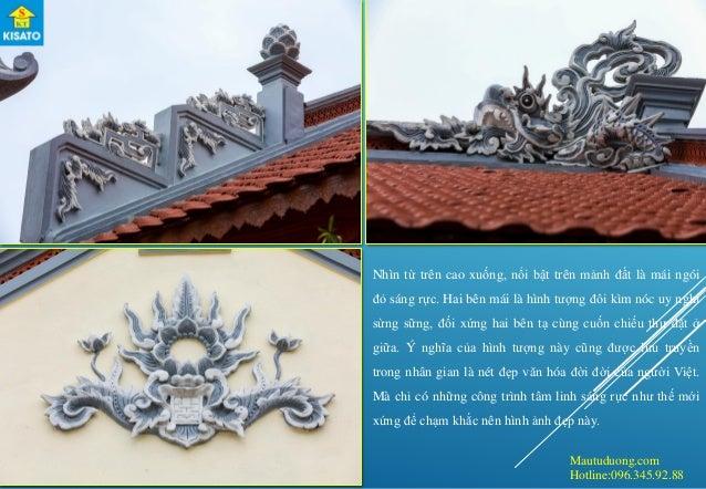 Mautuduong.com Hotline:096.345.92.88 Nhìn từ trên cao xuống, nổi bật trên mảnh đất là mái ngói đỏ sáng rực. Hai bên mái là...