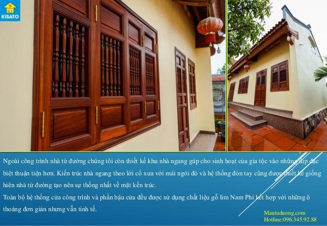 Mautuduong.com Hotline:096.345.92.88 Ngoài công trình nhà từ đường chúng tôi còn thiết kế khu nhà ngang gúp cho sinh hoạt ...