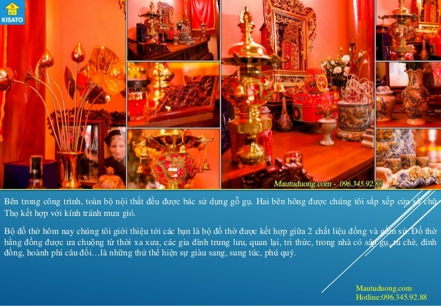 Mautuduong.com Hotline:096.345.92.88 Bên trong công trình, toàn bộ nội thất đều được bác sử dụng gỗ gụ. Hai bên hông được ...