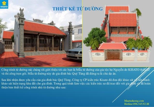 Mautuduong.com Hotline:096.345.92.88 Công trình từ đường mà chúng tôi giới thiệu tới các bạn là Mẫu từ đường của gia tộc h...