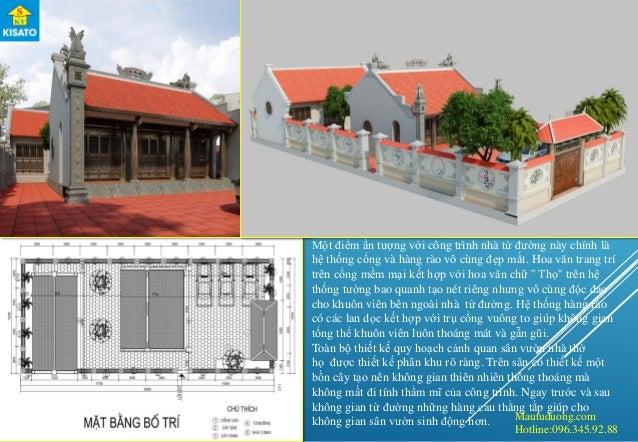 Mautuduong.com Hotline:096.345.92.88 Một điểm ấn tượng với công trình nhà từ đường này chính là hệ thống cổng và hàng rào ...