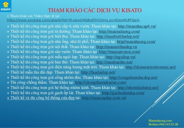 Mautuduong.com Hotline:096.345.92.88 THAM KHẢO CÁC DỊCH VỤ KISATO + Tham khảo các Video thực tế tại: https://www.youtube.c...
