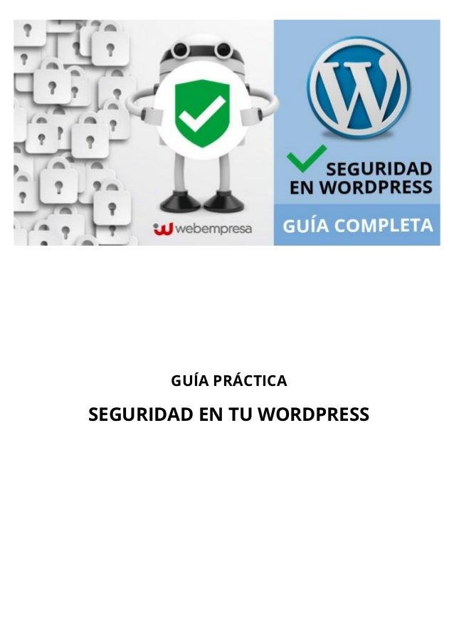 Guía para mejorar la seguridad en WordPress