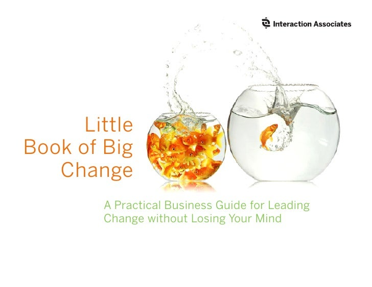 Little Book of Big    Change         A Practical Business Guide for Leading         Change without Losing Your Mind