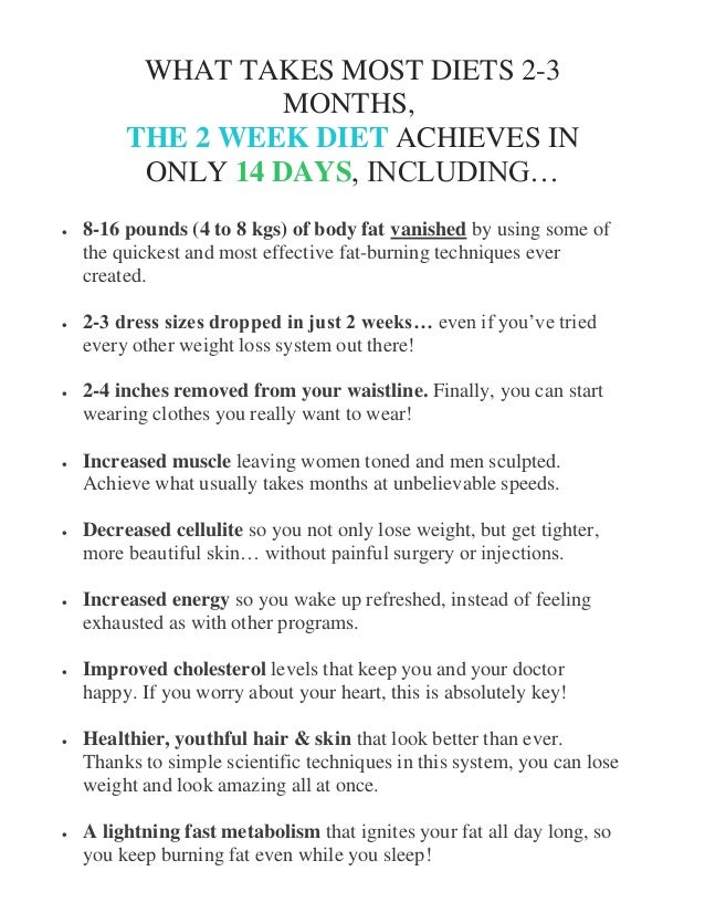 how to lose body fat in two weeks