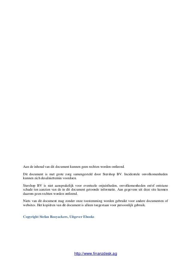 Aan de inhoud van dit document kunnen geen rechten worden ontleend.Dit document is met grote zorg samengesteld door Stersh...