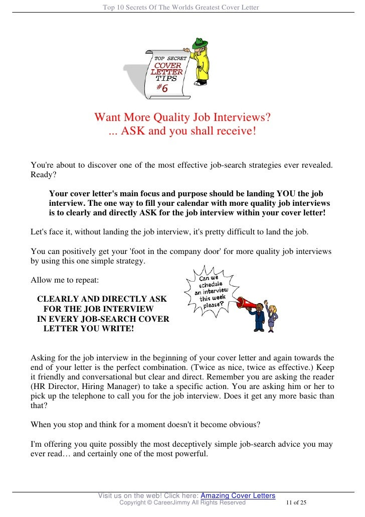 Top  Secrets Of The Worlds Greatest Cover Letter
