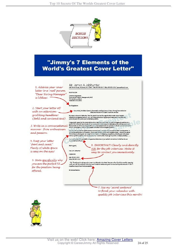Top 10 secrets of the worlds greatest cover letter for Jim sweeney cover letter