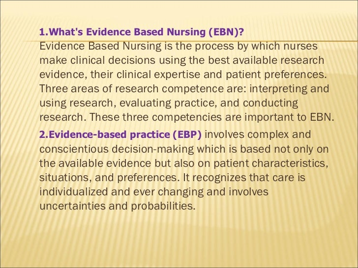 HLT 364 Evidence Based Decision Making and Discovery Paper