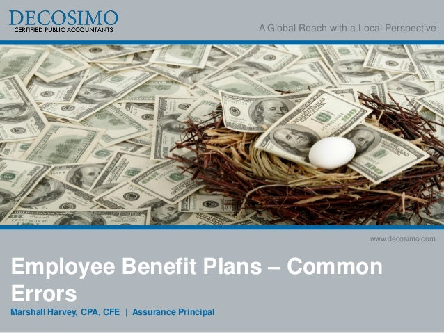 Employee Benefit Plan Errors - Marshall Harvey